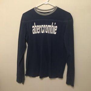 Abercrombie navy blue long sleeve tee